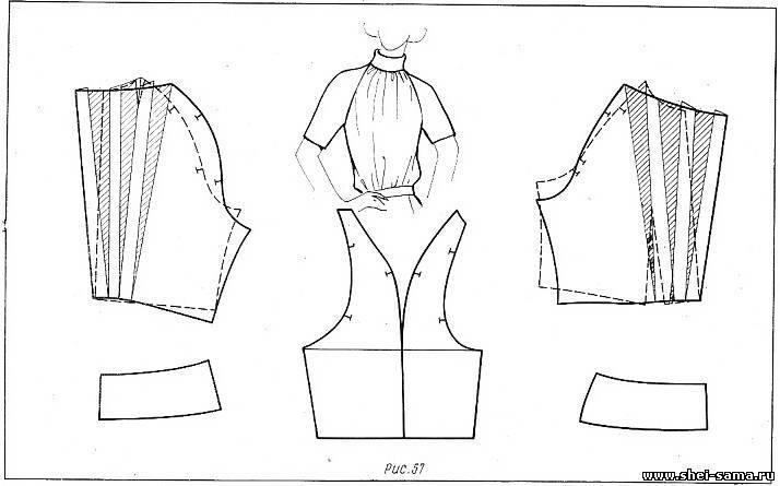 Выкройка блузки реглан - Выкройки одежды.