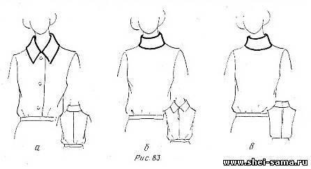 как построить стойку воротник для платья