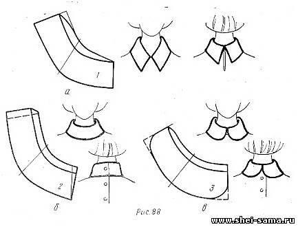 Как сшить блузку с отложным воротником 40