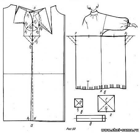 Как сшить старорусскую рубаху 43