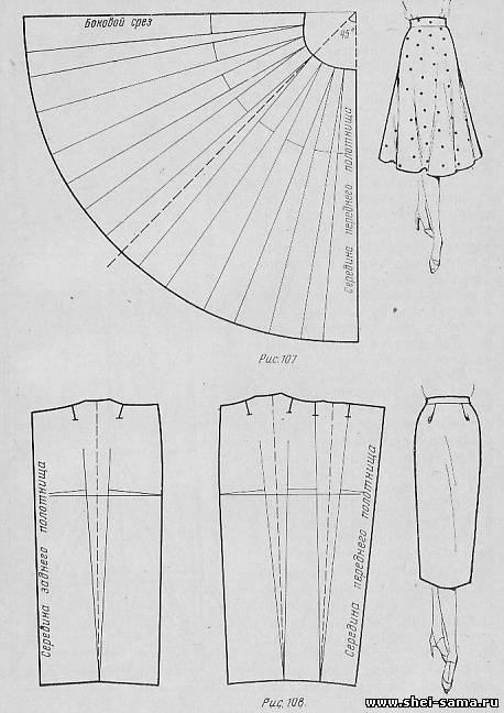 Юбка со сборками от линии талии