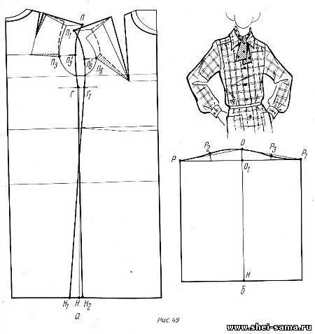 Чертеж моделирования женского платья