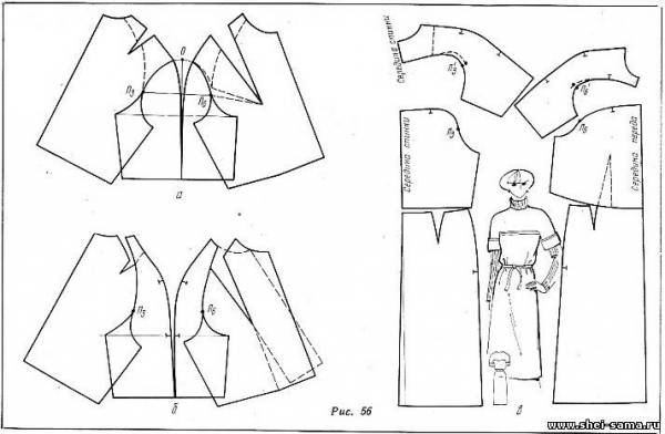 Как сшить подплечники реглан для платья 18