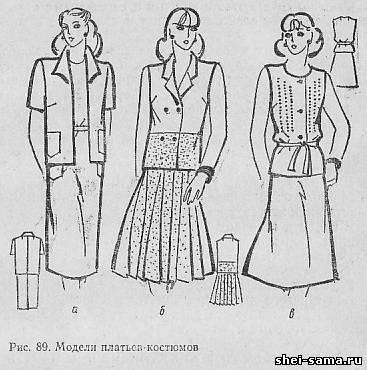 Модели платьев-костюмов