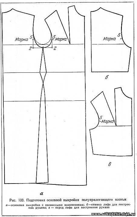 Описание: b Выкройка летнего платья прямого силуэта. . Как распечатать выкройку. . Как скачать готовые выкройки