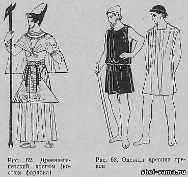 Этапы развития исторического древнеегипетского костюма