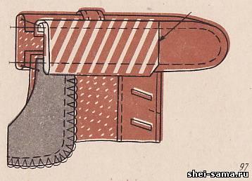 Обработка среза  корсажной лентой
