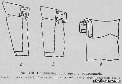 Обработка воротника платья