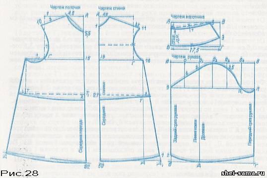 Платье для девочки выкройка построить