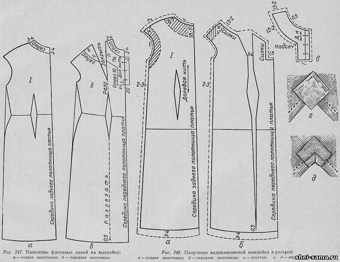 Цельнокроенное платье прямого