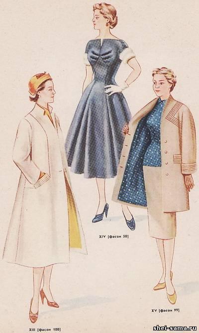 Выкройка платья 54
