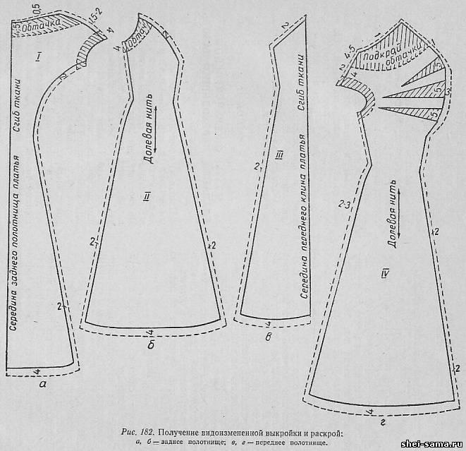 Платье с боковым клином