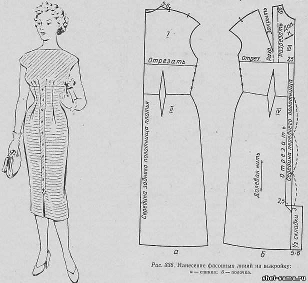 Отрезная планка на платье