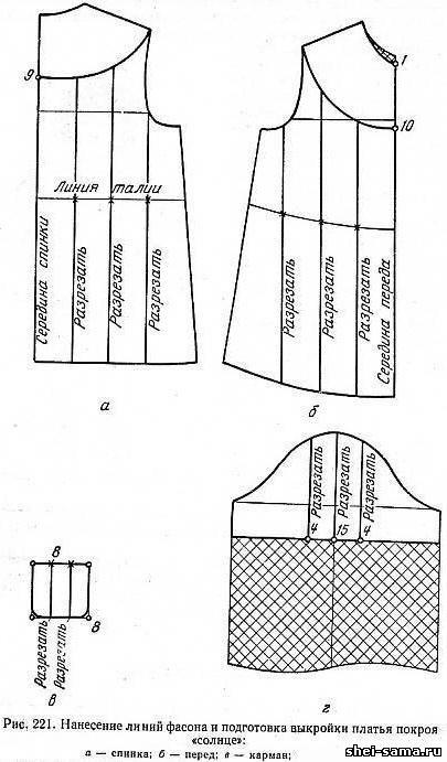 Как сшить сарафан солнце с кокеткой