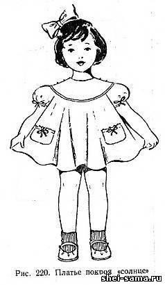 Как скроить женское платье на кокетке