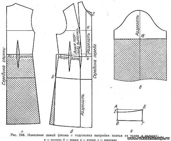 Платье свободного кроя с рукавами своими руками