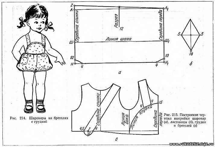 Шитье для детей/ штаны, комбинезоны, шорты Записи в