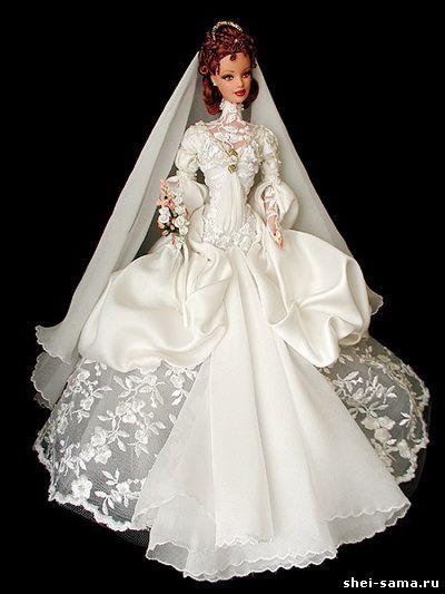 Для барби свадебное платье своими руками