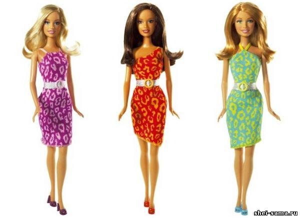 Легкие платья для кукол своими руками