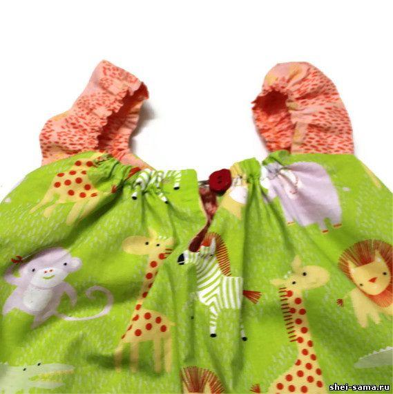 Двухстороннее платье как сшить 9