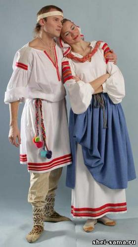 Национальный белорусский костюм девушки
