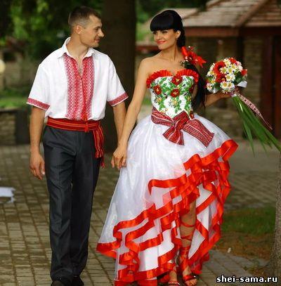 Найпопулярніше поєднання кольорів – це білий і червоний. Наряд може  рівнозначно поєднувати ці відтінки be92691ca9547