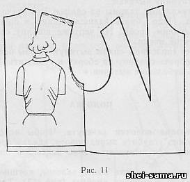 дефекты изделия заломы по спинке платья