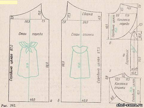 Чертежи моделей женского платья