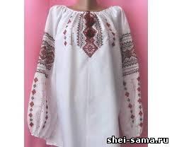 Как сшить женскую украинскую рубашку